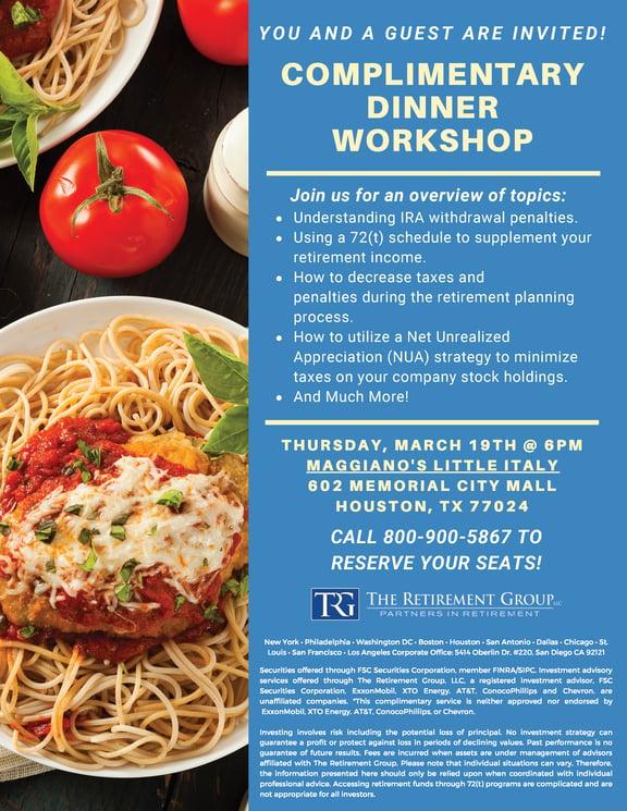 Maggianos Dinner Workshop 3-19-20