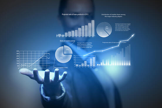 Close up of businesswoman holding graphs in hand-2
