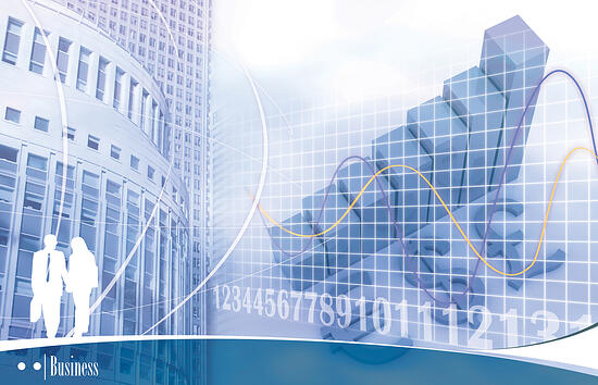 Illustration of a finance realted urban scenery-1